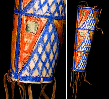 Parfleche, Sioux cylindrical case