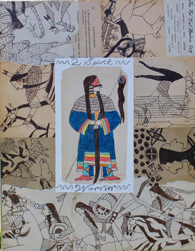 Thomas Huakaas (Lakota) - mIxed media