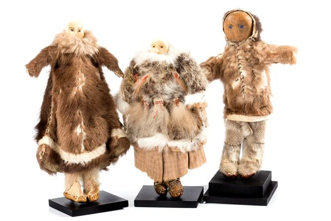 Native Alaskan dolls, Native Alaskan dolls, Gold Rush Era
