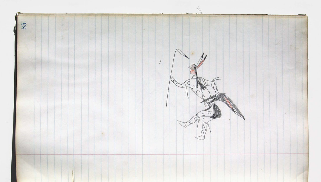 Lakota Ledger Drawing Grass Dancer