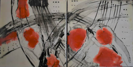 Margaret Henning, Abstract Diptych